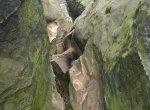 climbing down the Grossvaterfelsen