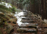 Steep ascent towards Śnieżka summit