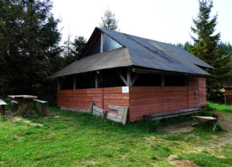 Tent base at Głuchaczki pass